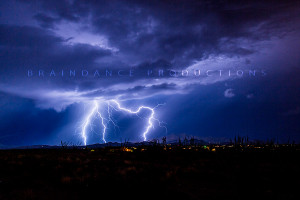 Monsoon lightning photograph